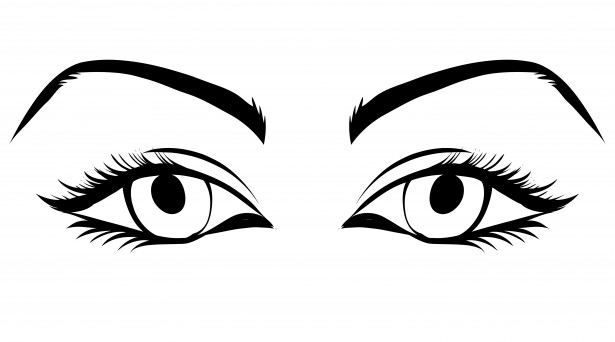 Eyeball girl eye clipart.