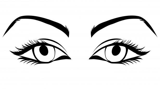 Eyeball girl eye clipart.