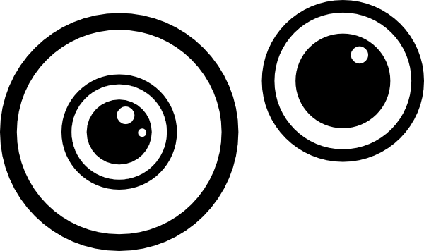 Eyes black and white simple eye clipart black and white free.