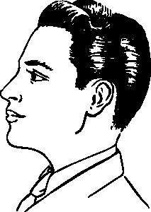Eye profile clipart.