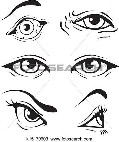 Clip Art of woman opened eye k6194157.