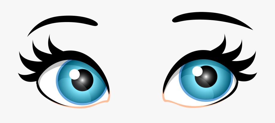 Blue Female Eyes Png Clip Art.