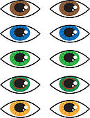 Clip Art of Eye Colors k13344347.
