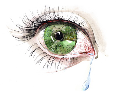 eye with tears clipart #18