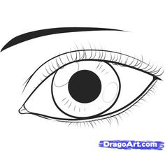 How To Draw Eyes Clipart.