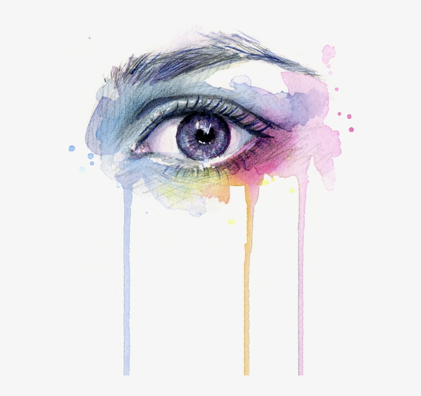 Dripping Drawing Eye.