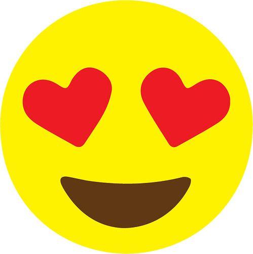 heart eye emoji.