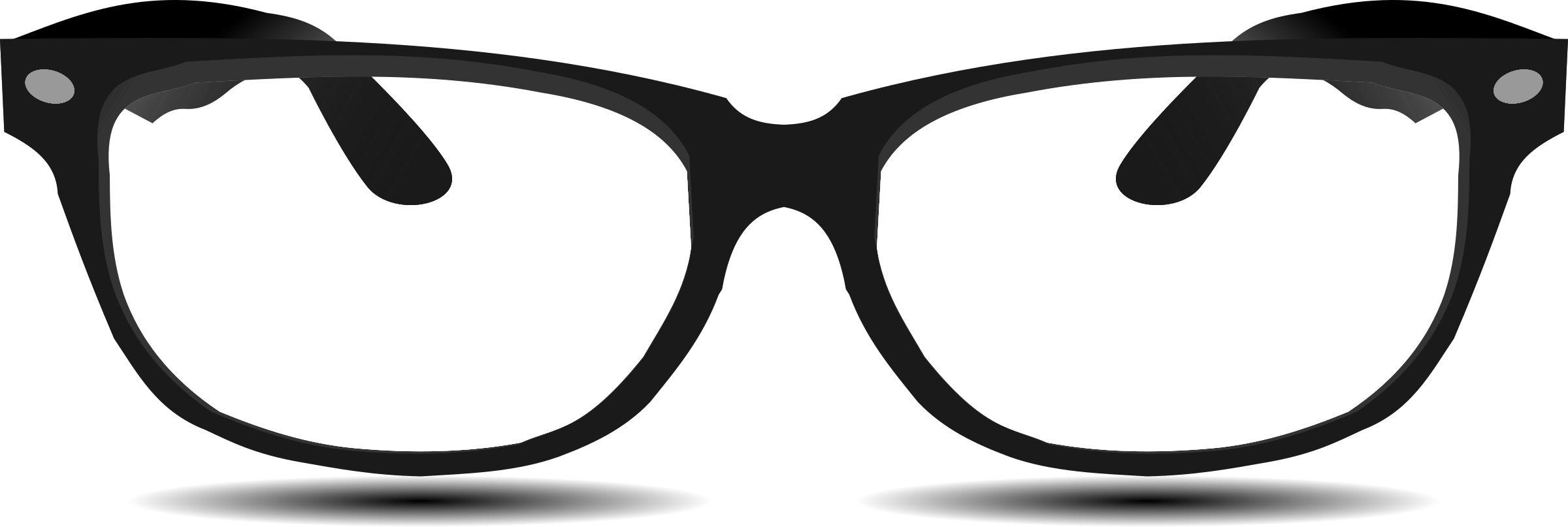 glasses by @hatalar205, A simple glasses clipart, on @openclipart.