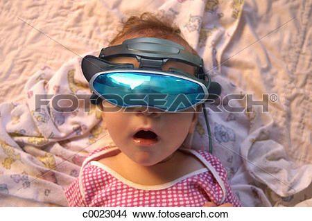 Stock Photo of eye, face, concept, future, glasses, goggles, humor.