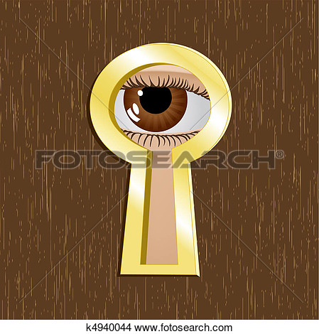 Keyhole With Eye Clipart.