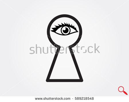 Eye Keyhole Stock Images, Royalty.