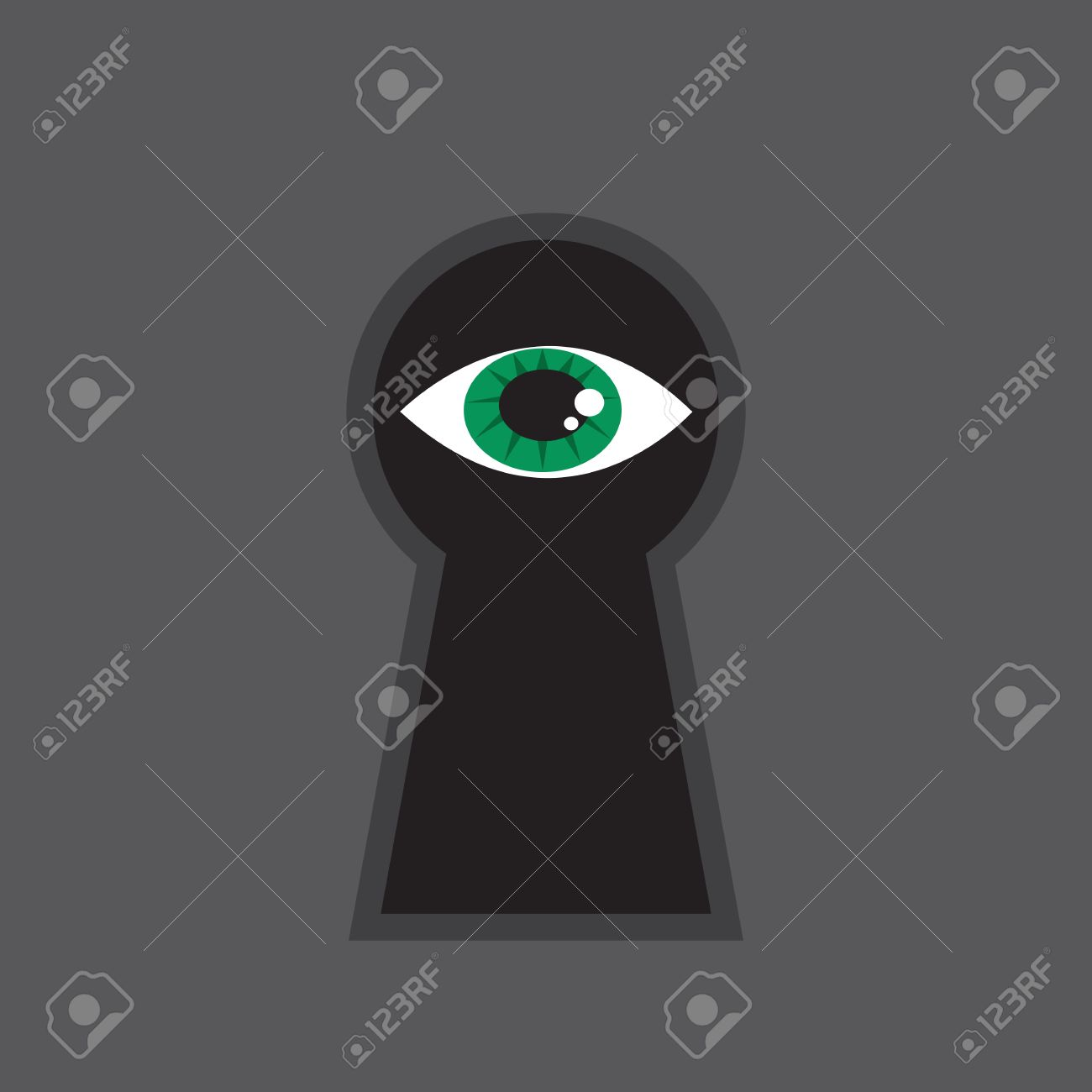 Eye Looking Through Large Keyhole Royalty Free Cliparts, Vectors.