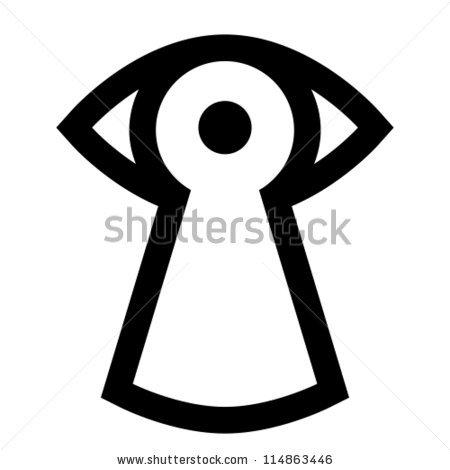 Vector Spy Icon Eye Looking Through Stock Vector 114863446.