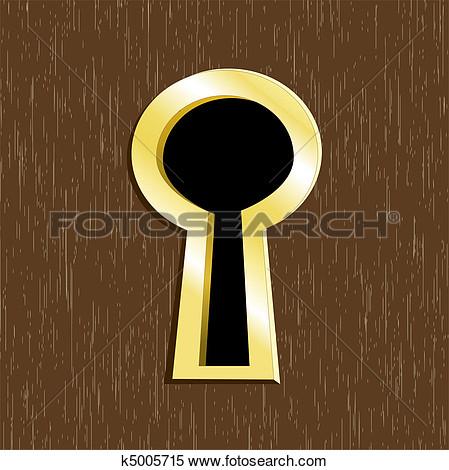 Eye In Keyhole Clipart.