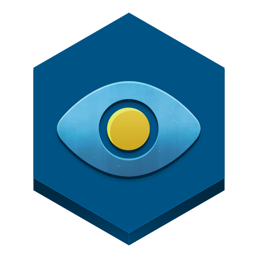 Eye in a sky Icon.