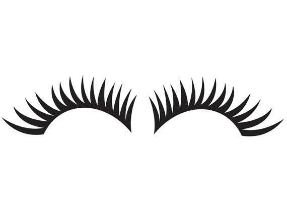 Eye lashes clipart - Clipground