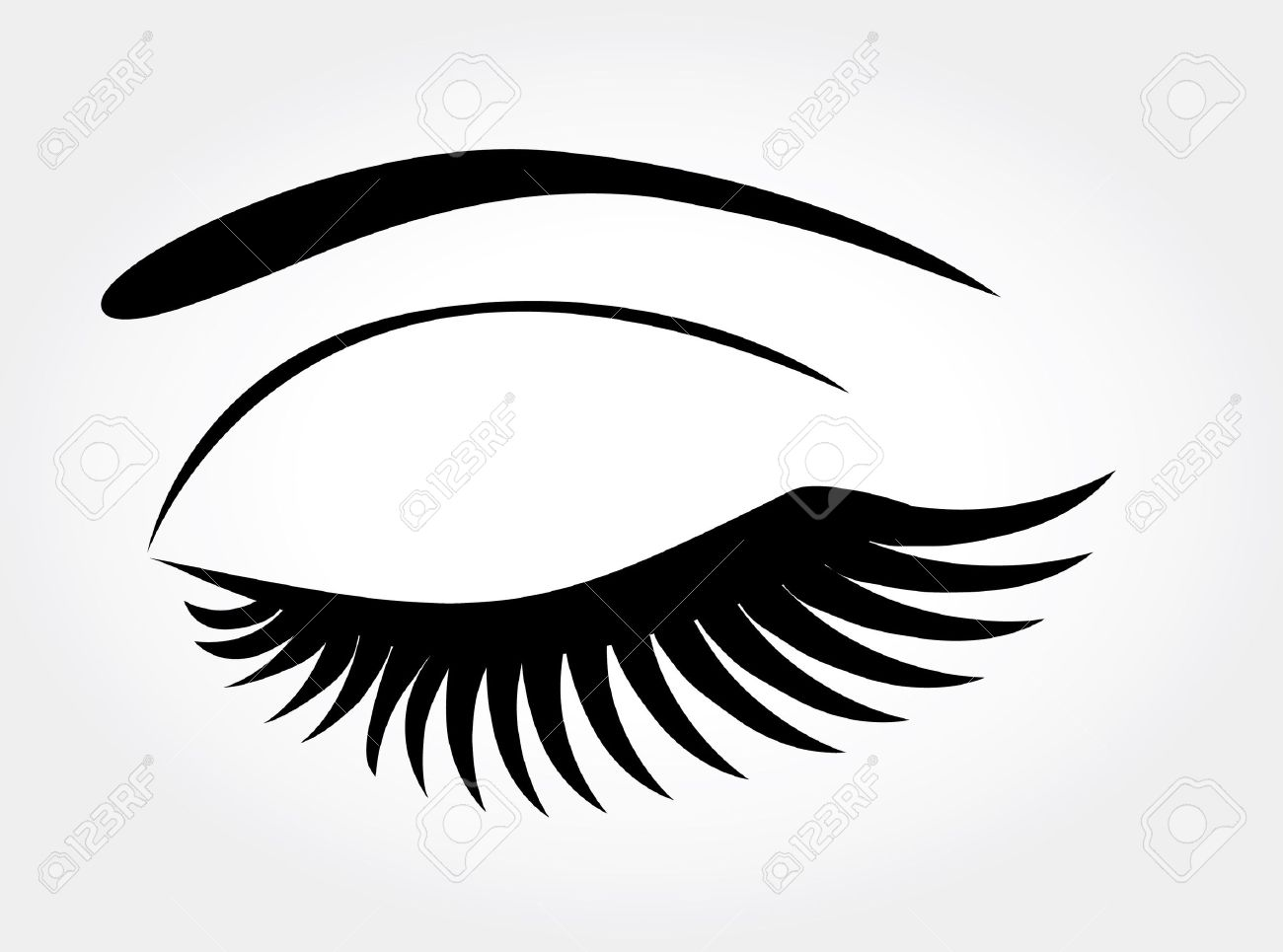 Vector Eye With Long Lashes Royalty Free Cliparts, Vectors, And.