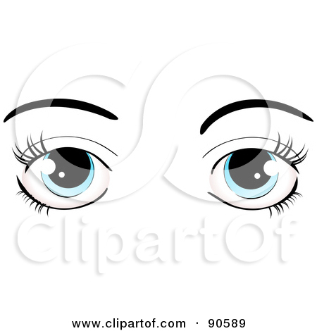 Eye Lashing Out Clipart.