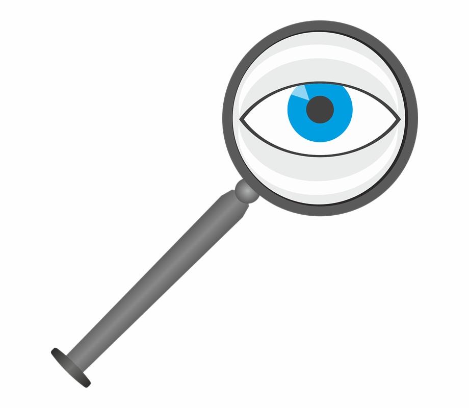 Magnifying Glass Eye Lens See Larger View Optics.