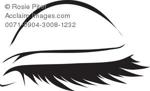 Eye lid clipart.