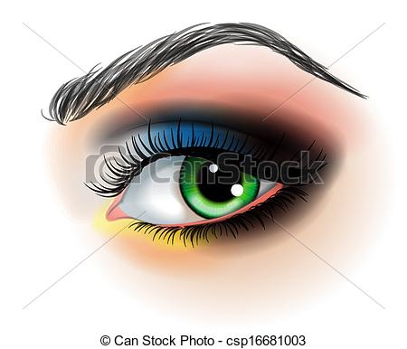 Vector Clipart of Eye make up vector illustration csp16681003.