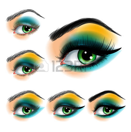 17,434 Eye Makeup Cliparts, Stock Vector And Royalty Free Eye.