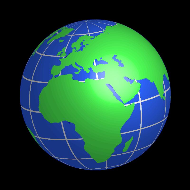 Clipart globe africa.