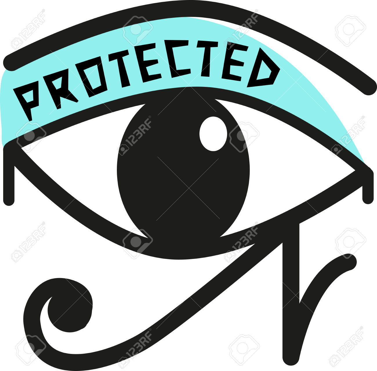 The Eye Of Horus Is An Ancient Egyptian Symbol Of Protection.