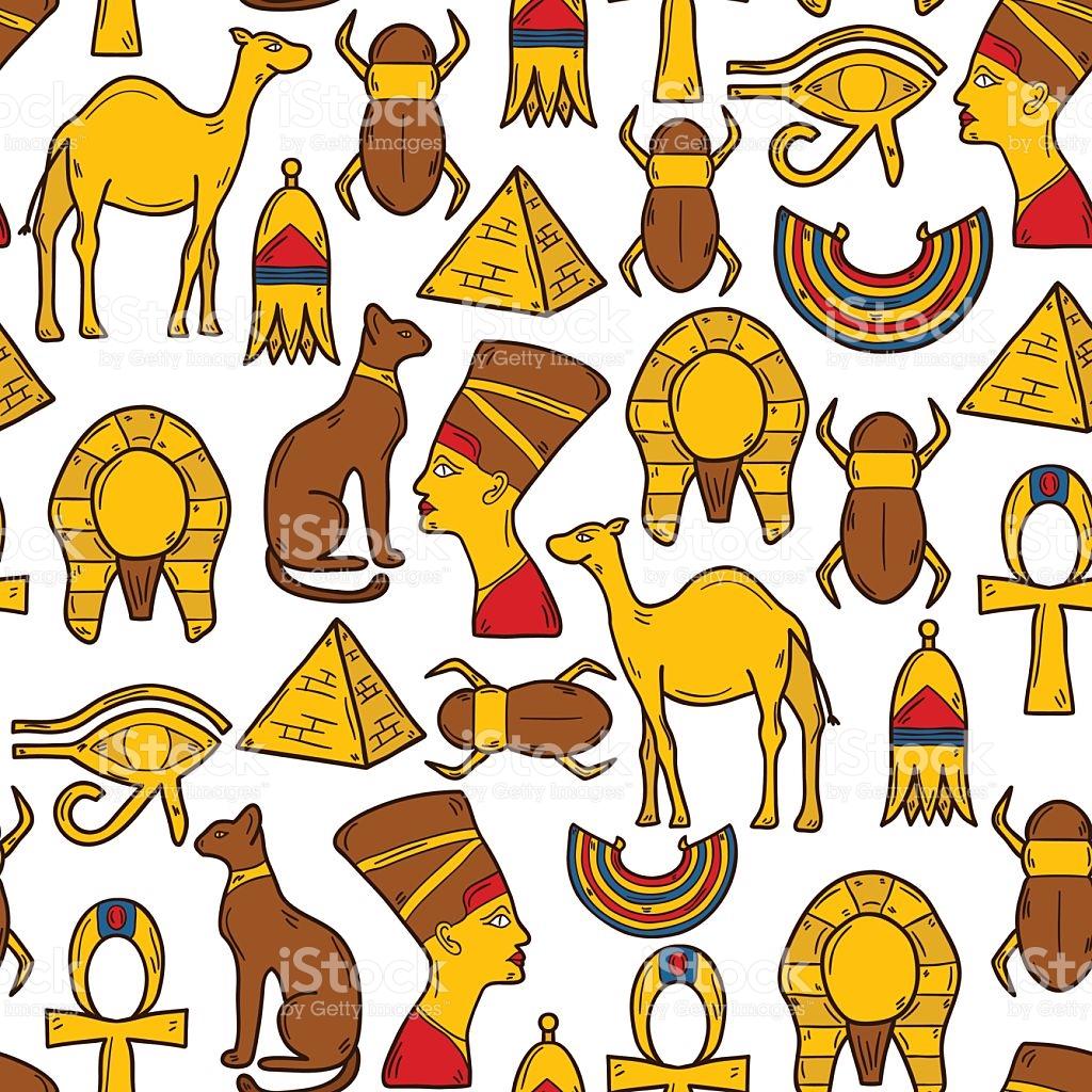 Seamless Egypt Background stock vector art 493018526.