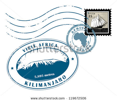 Africa Stamp Stock Images, Royalty.