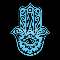 Hamsa Hand Fatima Eye of Providence Negative stock vectors.