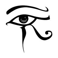Eye of Horus tattoo that I had already found and wanted but I made.