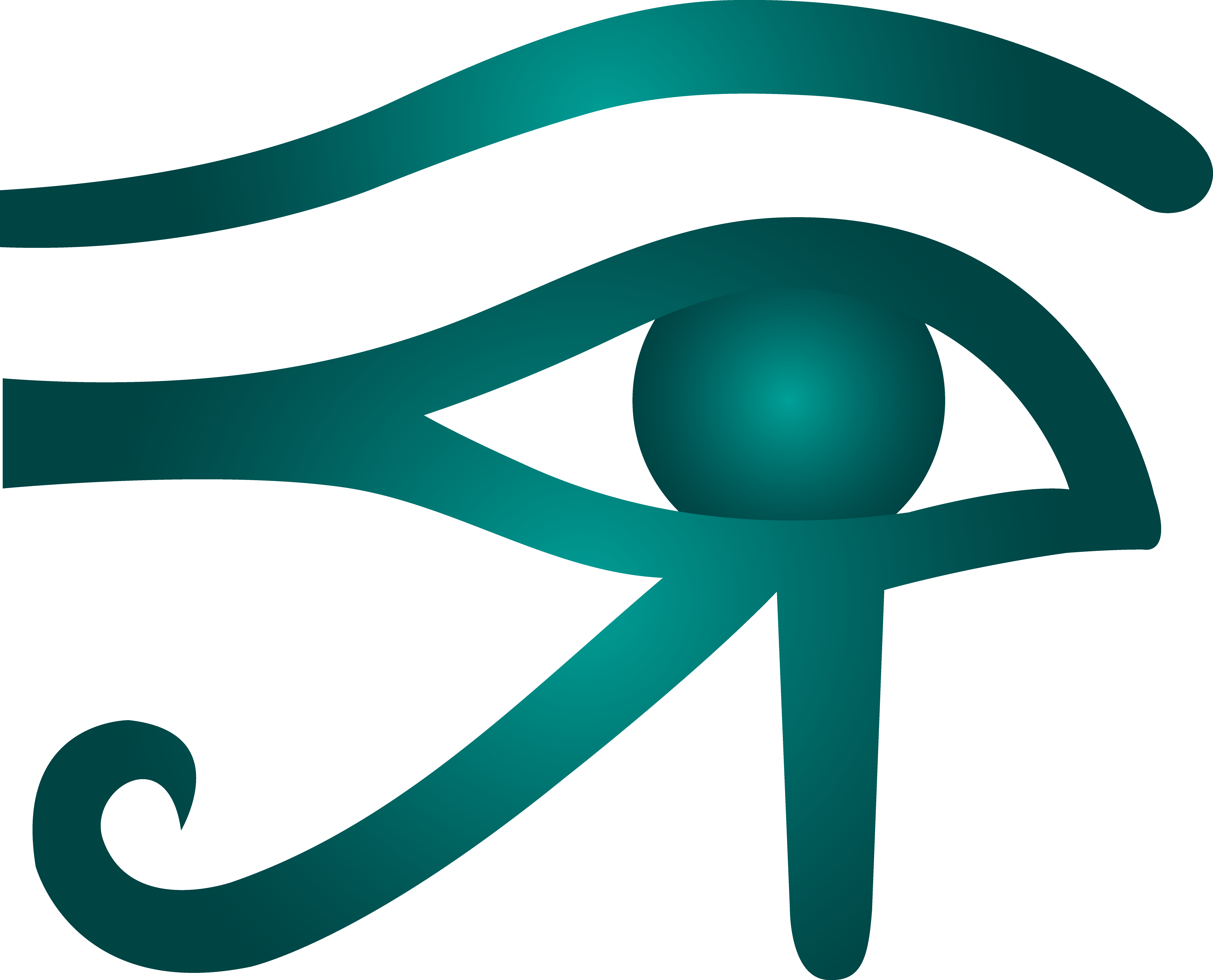 Blue Eye of Horus Symbol.