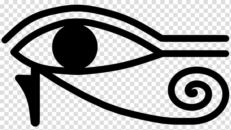 Ancient Egypt Eye of Horus Eye of Ra, lucky symbols transparent.