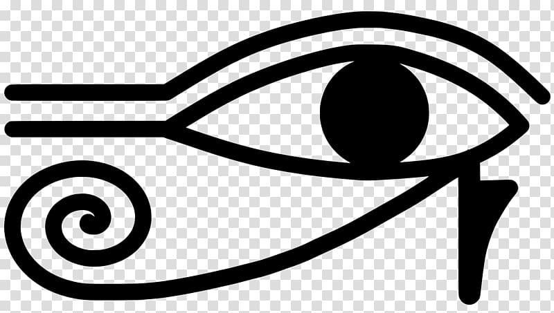 Ancient Egypt Eye of Horus Eye of Ra, symbol transparent background.