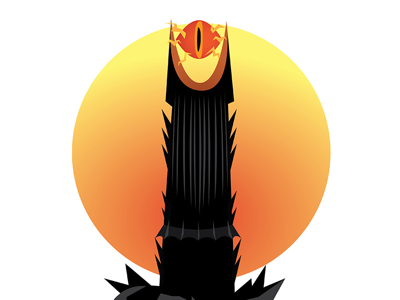 Eye of sauron png Transparent pictures on F.