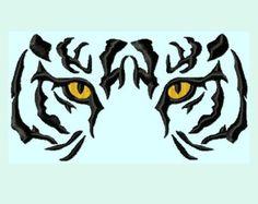 Wild Tiger Eyes Logo Pattern.