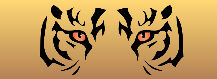 Free Tiger Eyes Clipart Image.