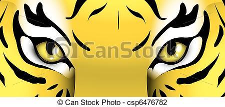 Clip Art of eyes of a tiger csp6476782.