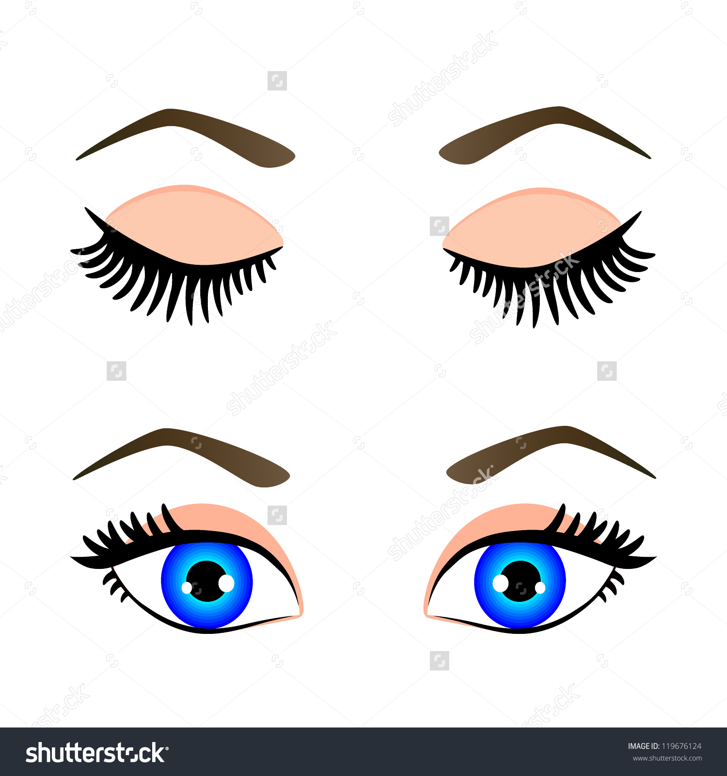 Open clipart blue eye.
