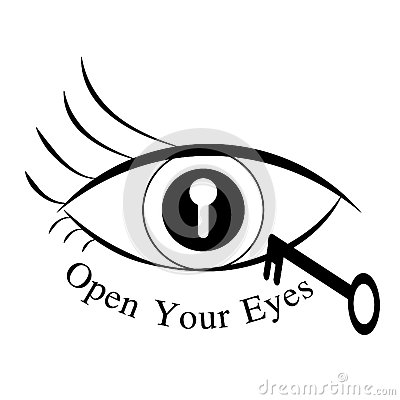 Eye opening clipart.
