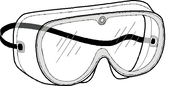 Protective eye wear clipart.