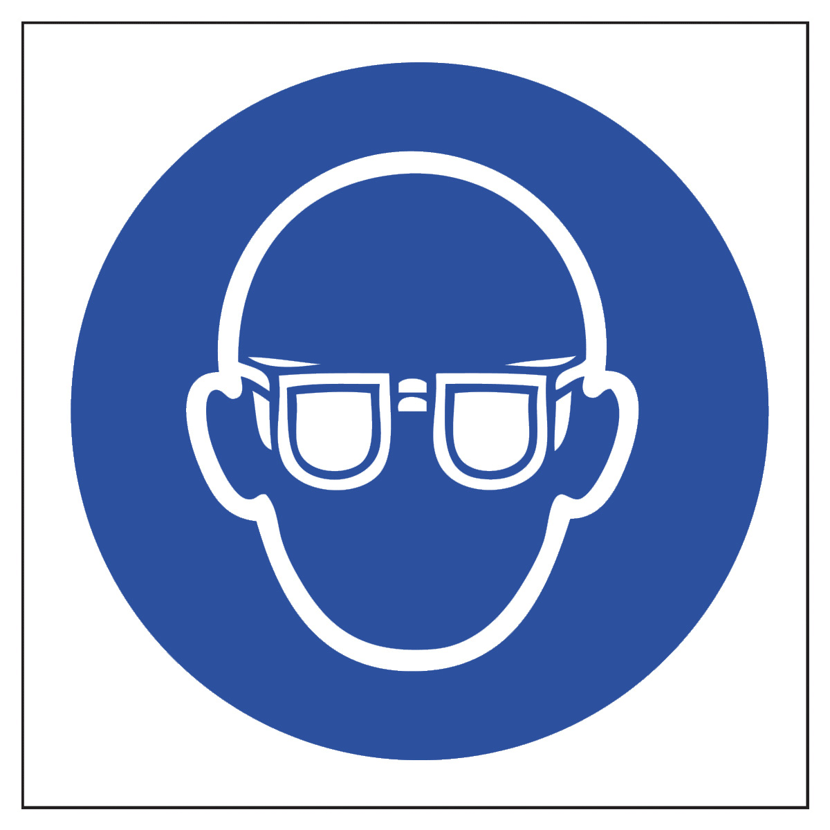 Safety goggles on eyes clipart.
