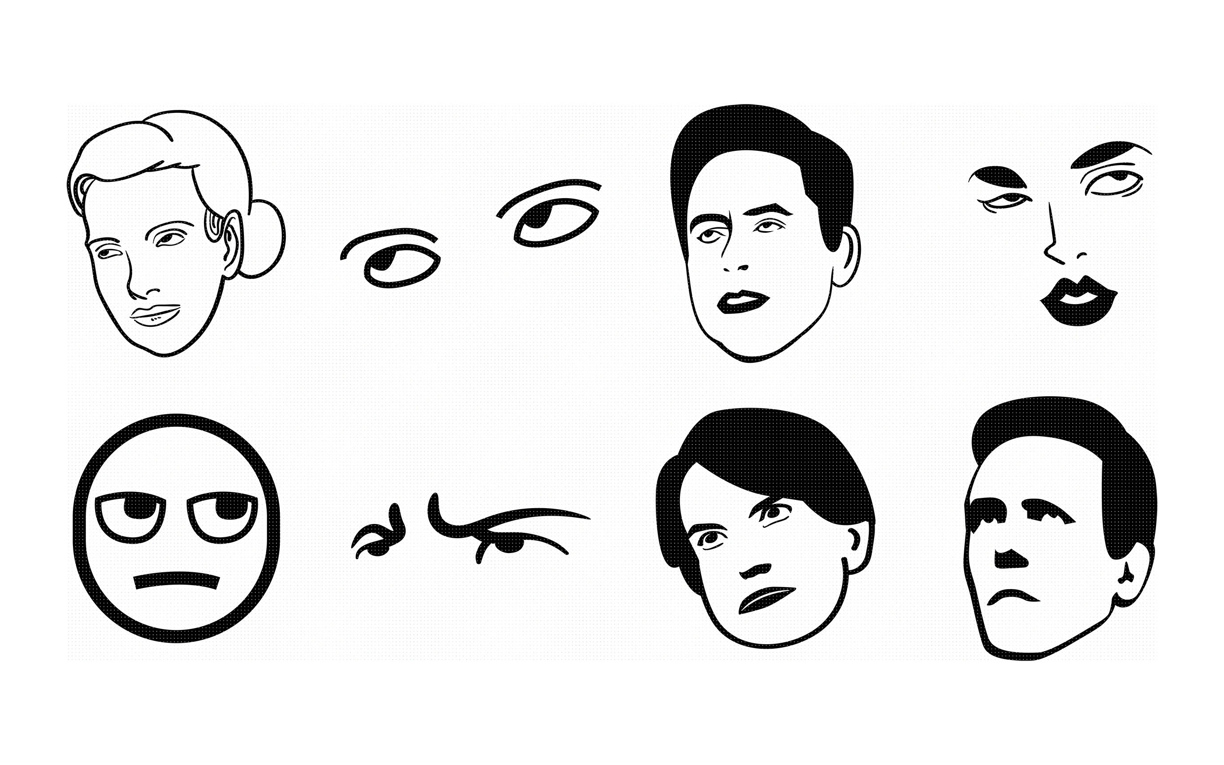 eye rolling svg, dxf, vector, eps, clipart, cricut, download.