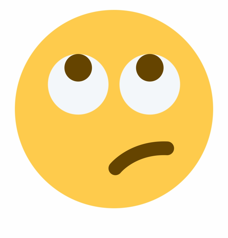 Rolling Eyes Emoji Twitter , Png Download.