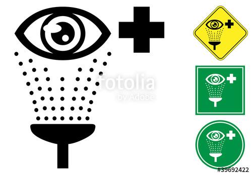 "Emergency eye wash pictogram sign icon"" Stock image and royalty."