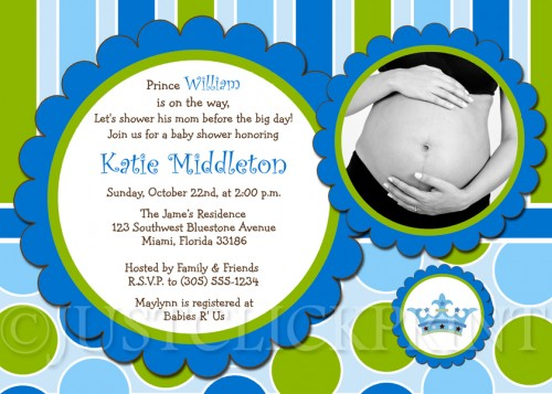 Little Prince Baby Shower Invitations.