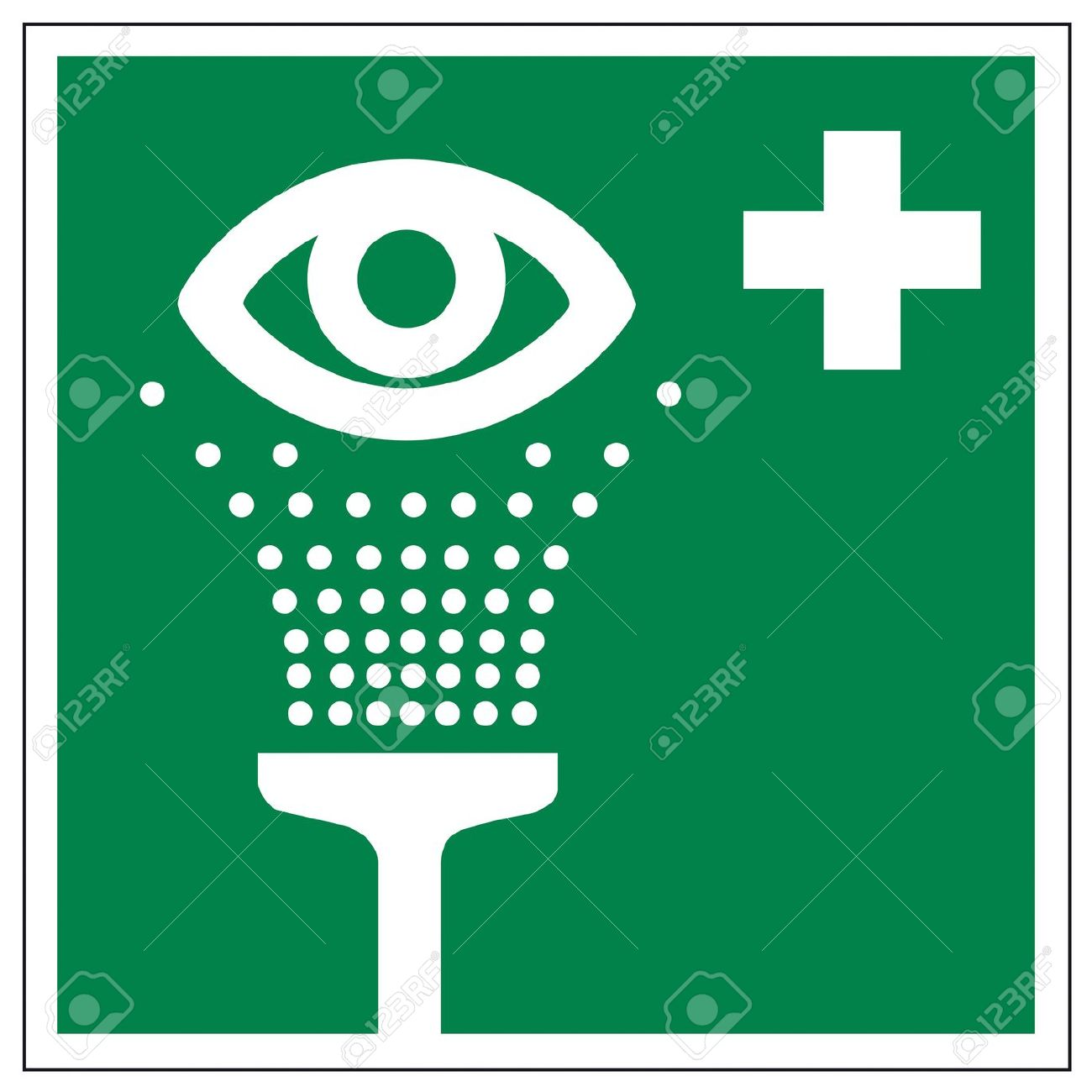 Rescue Signs Icon Eye Shower Royalty Free Cliparts, Vectors, And.