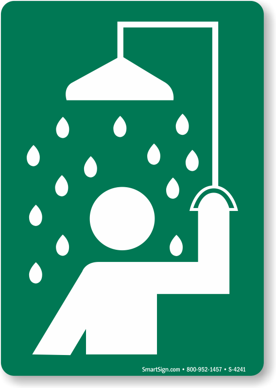 Safety Shower Signs.