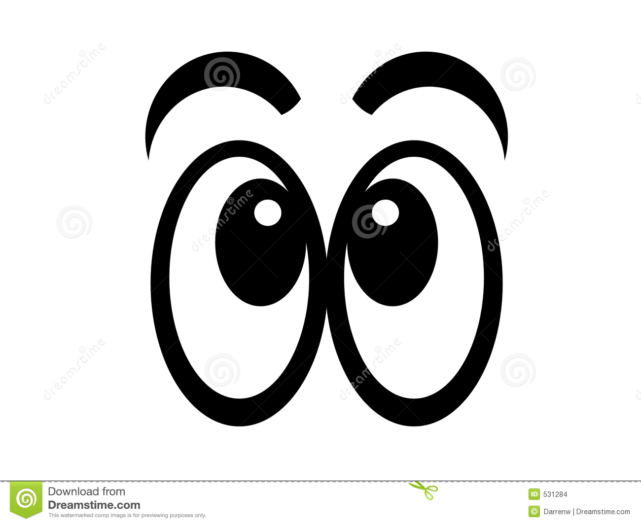 Eye Staring At Floor Clipart.